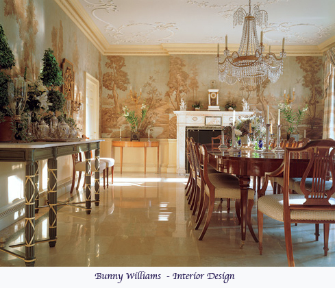 Interior Designer Bunny Williams Used A Classic Tree Scenic Mural For This Elegant Traditional Dining Room Murals Tell Story