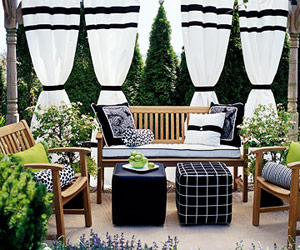 Creating A Clean, Fresh Environment Is Easy If You Stick To Using A  Monochromatic Color Scheme Like This Chic Black And White Patio.