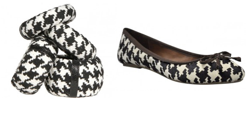 Wide Fit Black Houndstooth Bow Court Shoes - Polyvore