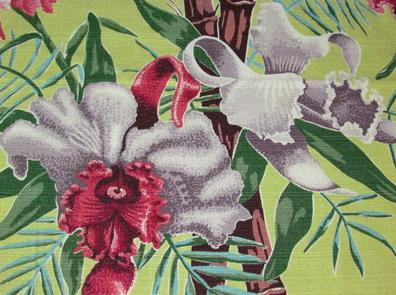 floral bark cloth