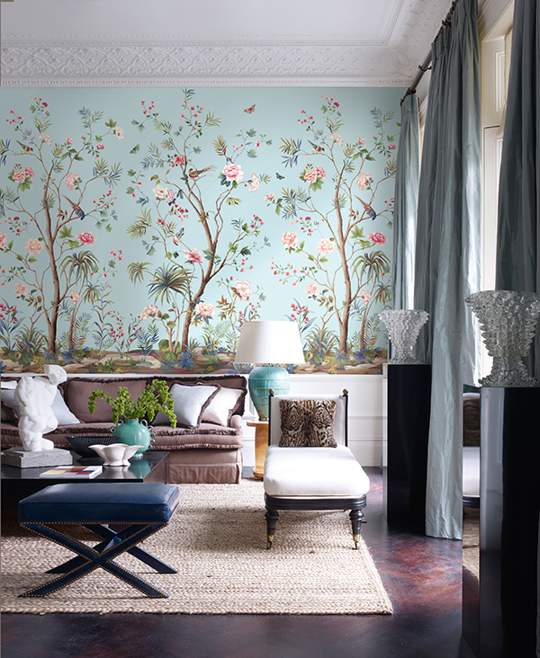 Designing interiors with chinoiserie inspired wallpaper for Chinese wallpaper mural