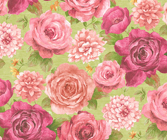 bloom rose green