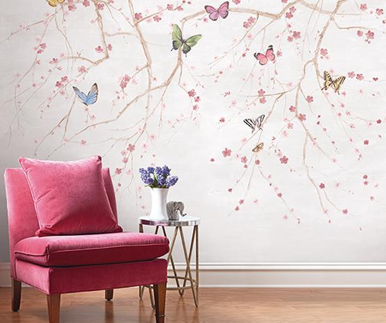butterfly-mural